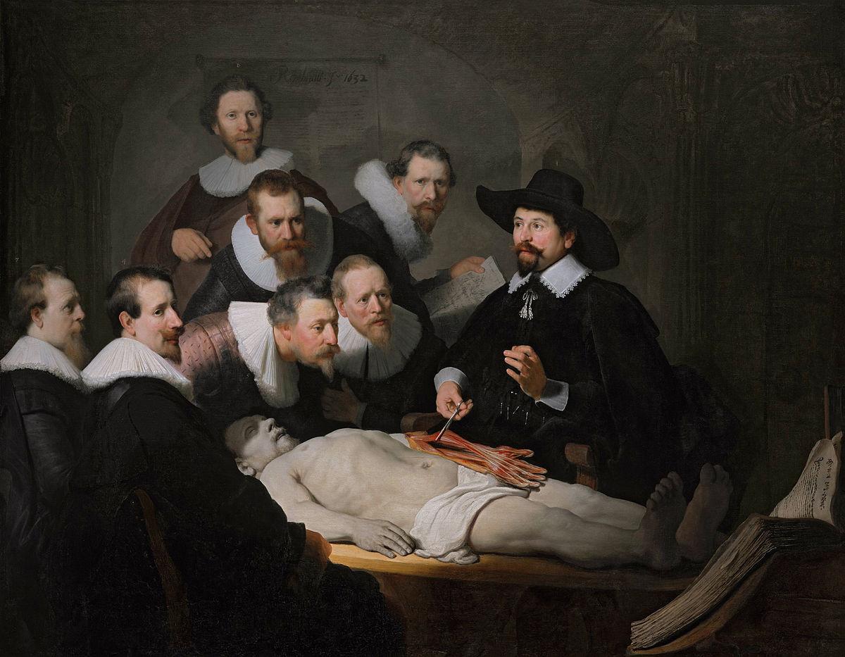 Rembrant - Čas anatomije doktora Nikolasa Tulpa