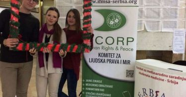 Volonteri IFMSA-Serbia u Dekanatu MFUB