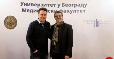 Prof. dr Christophe Cognard and dr Ivan Vukašinović