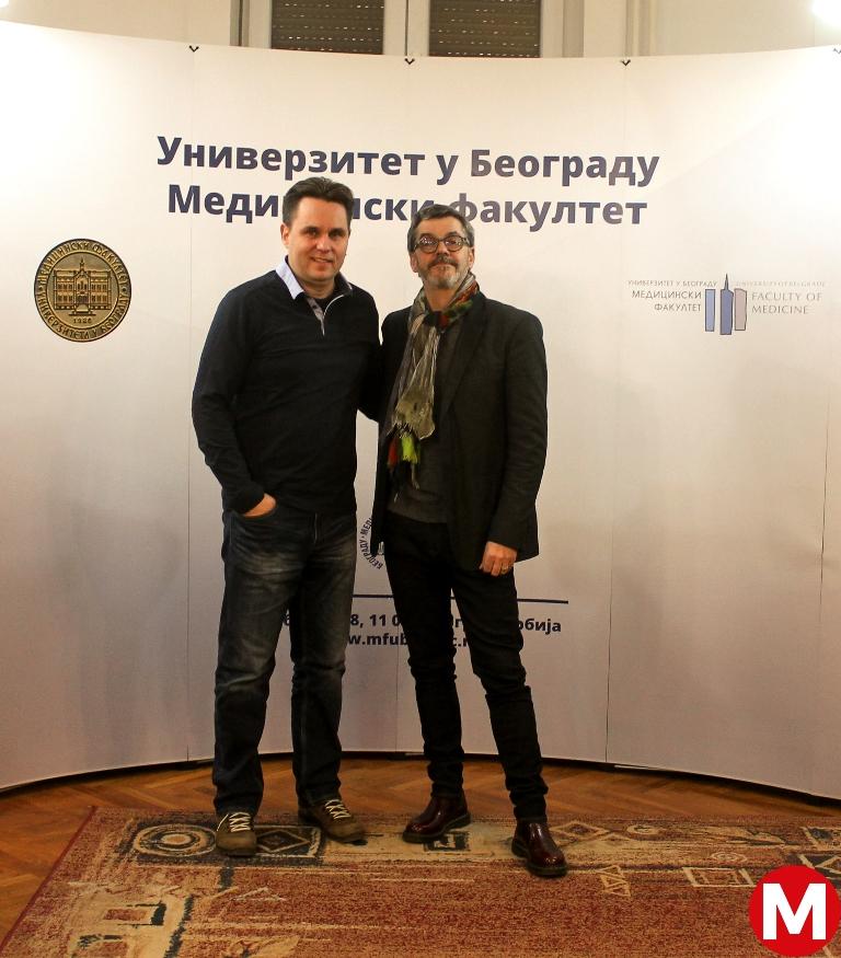 Dr Ivan Vukašinović and prof. dr Christophe Cognard